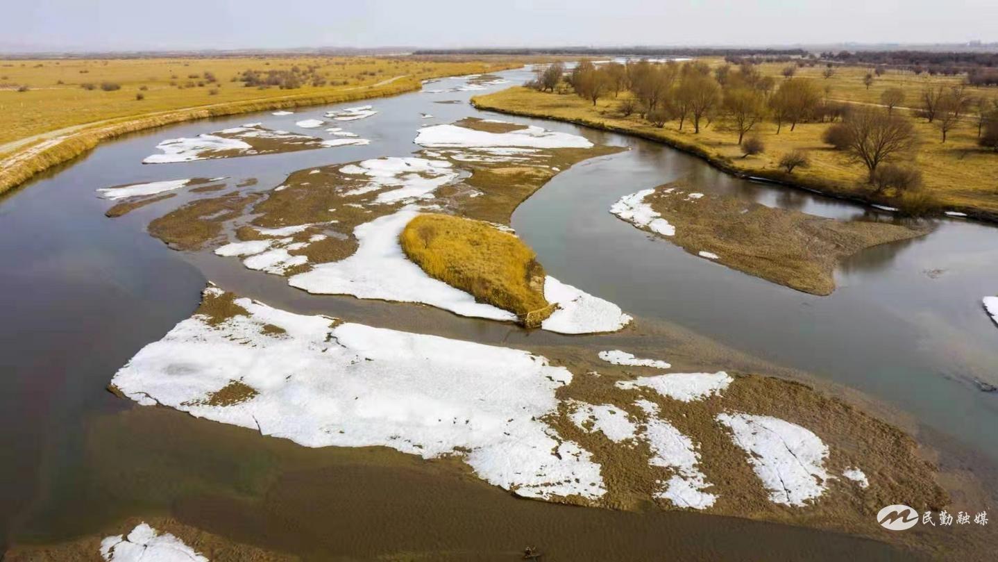 甘肃民勤石羊河国家湿地公园  清流碧波生态美